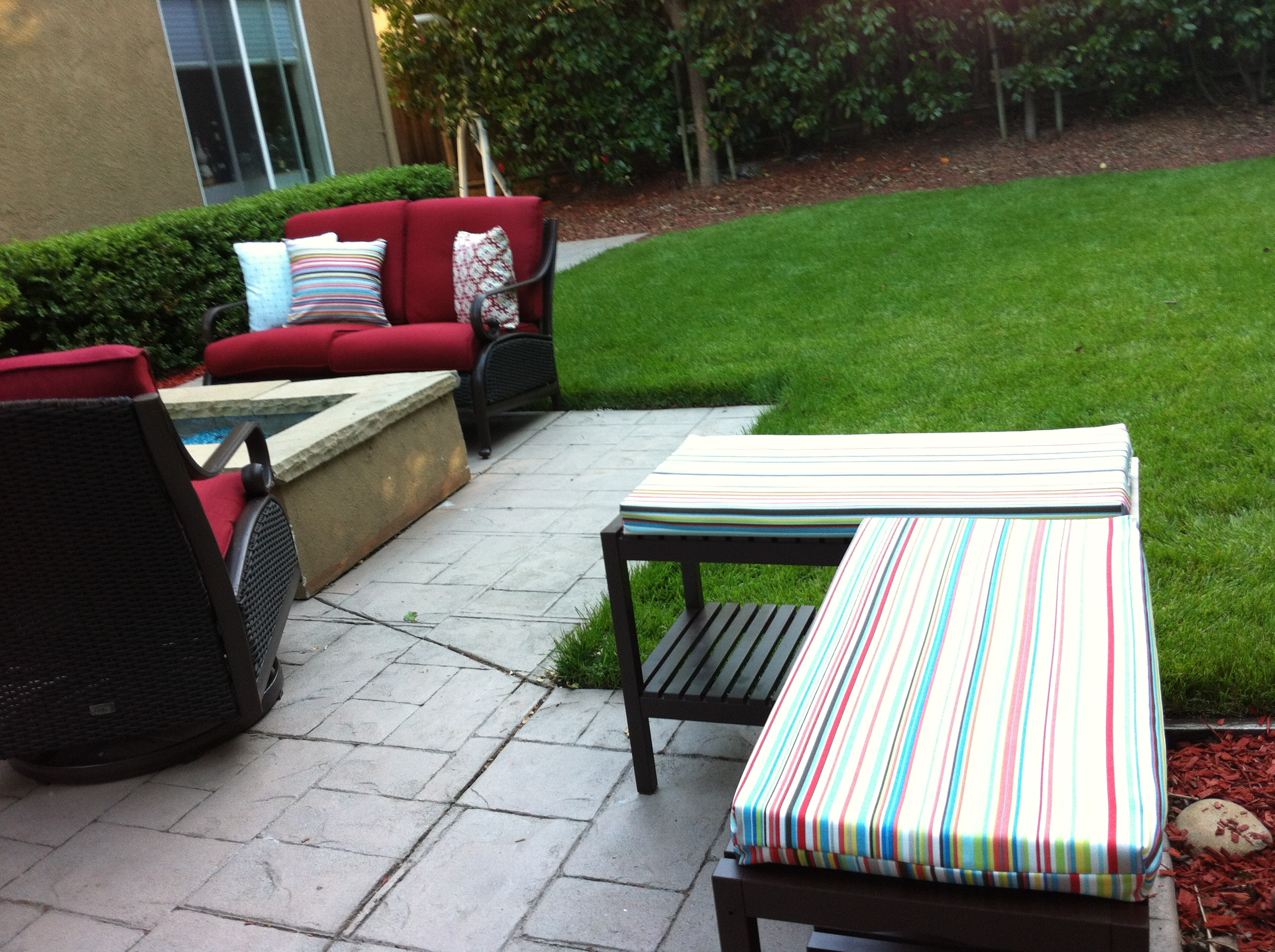 Outdoor Benches And Custom Cushions