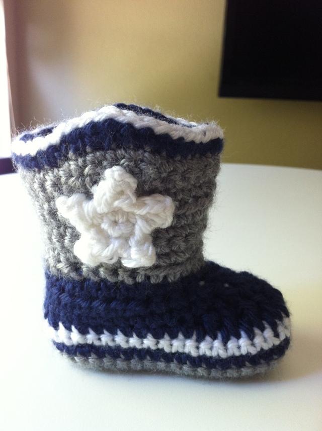 Crochet Baby Cowboy Boots chucksforchancho