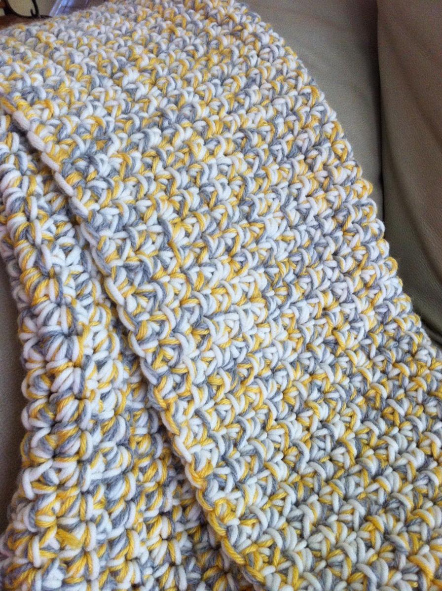 Chunky Crochet Baby Blanket - Tutorial