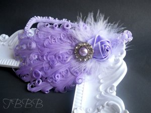 etsy feather headband