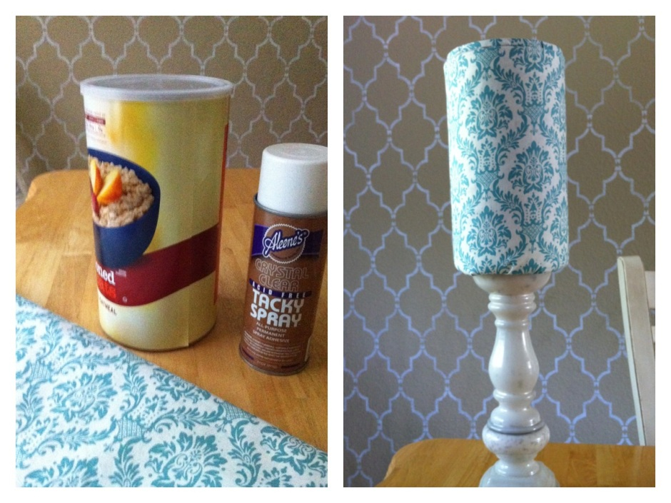 oatmeal container headband holder