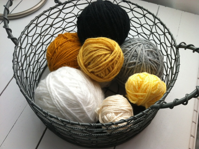 yellow yarn balls