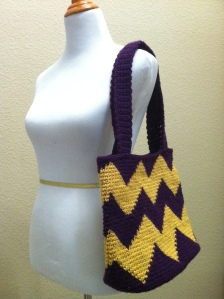 chevron crochet bag