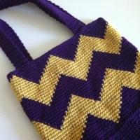Crochet Chevron Tote