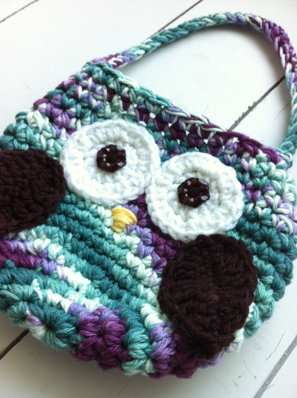 Little girls crochet owl purse crochet owl purse bankloansurffo Image collections