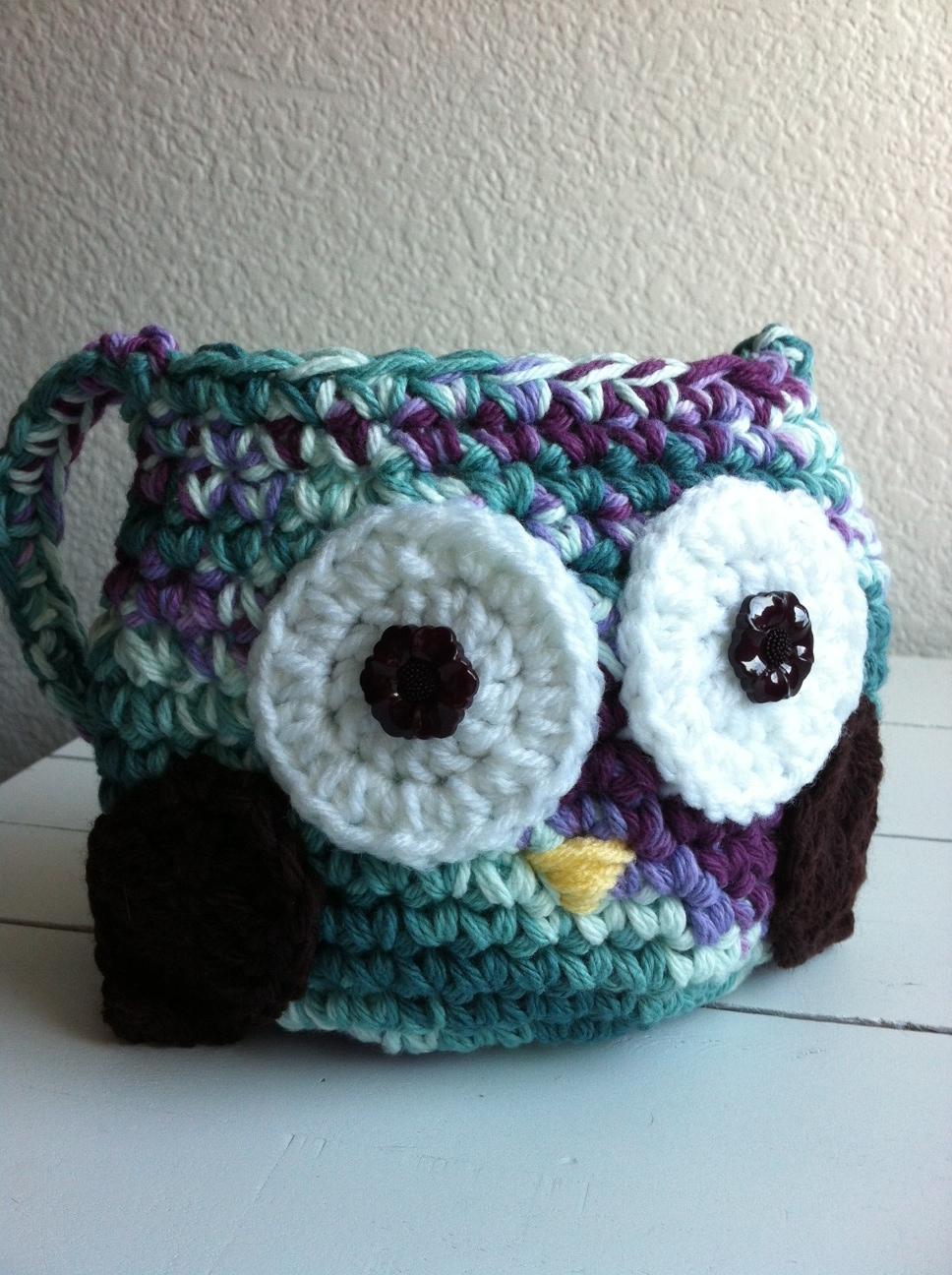 Little girls crochet owl purse crochet owl bag bankloansurffo Image collections