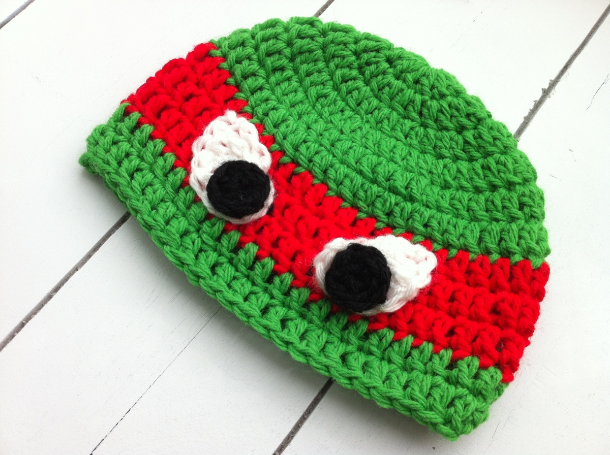 Free Crochet Pattern Turtle Hat : Crochet Ninja Turtles Hat