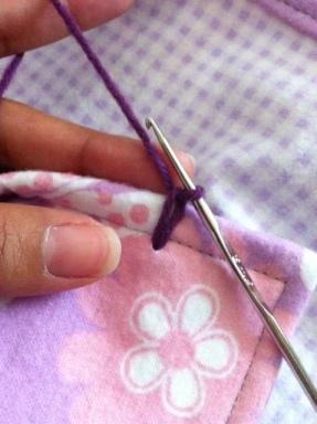 crochet flannel edge