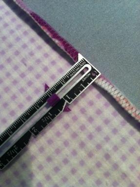 crochet edge flannel blanket