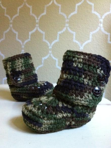 camo crochet ugg boots