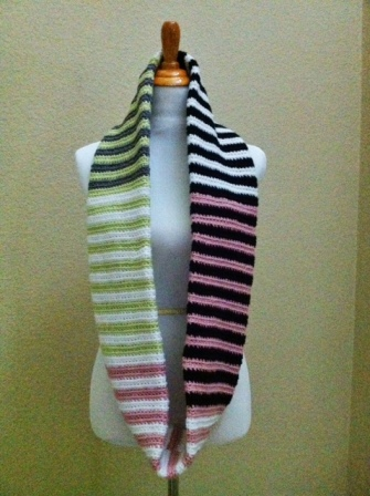 striped crochet scarf