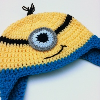 TUTORIAL - Crochet Minion Hat