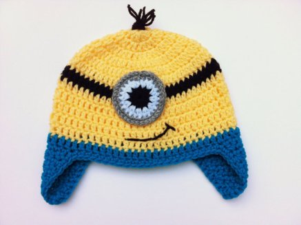 TUTORIAL – Crochet Minion Hat e94fa2999d4