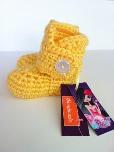 yellow crochet uggs