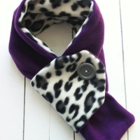 Toddler Fleece Button Scarf
