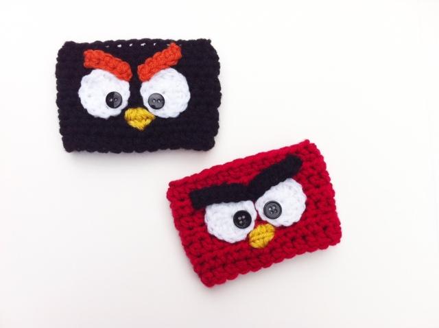 crochet angry bird cozy