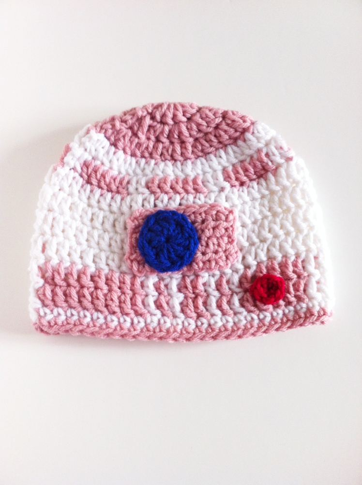 crochet pink R2D2