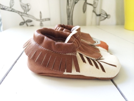 leather moccs