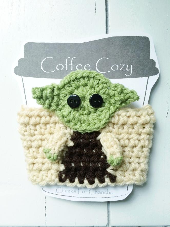 crochet yoda cozy