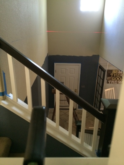 elevated trim for high ceiling
