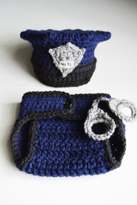 crochet police photo prop