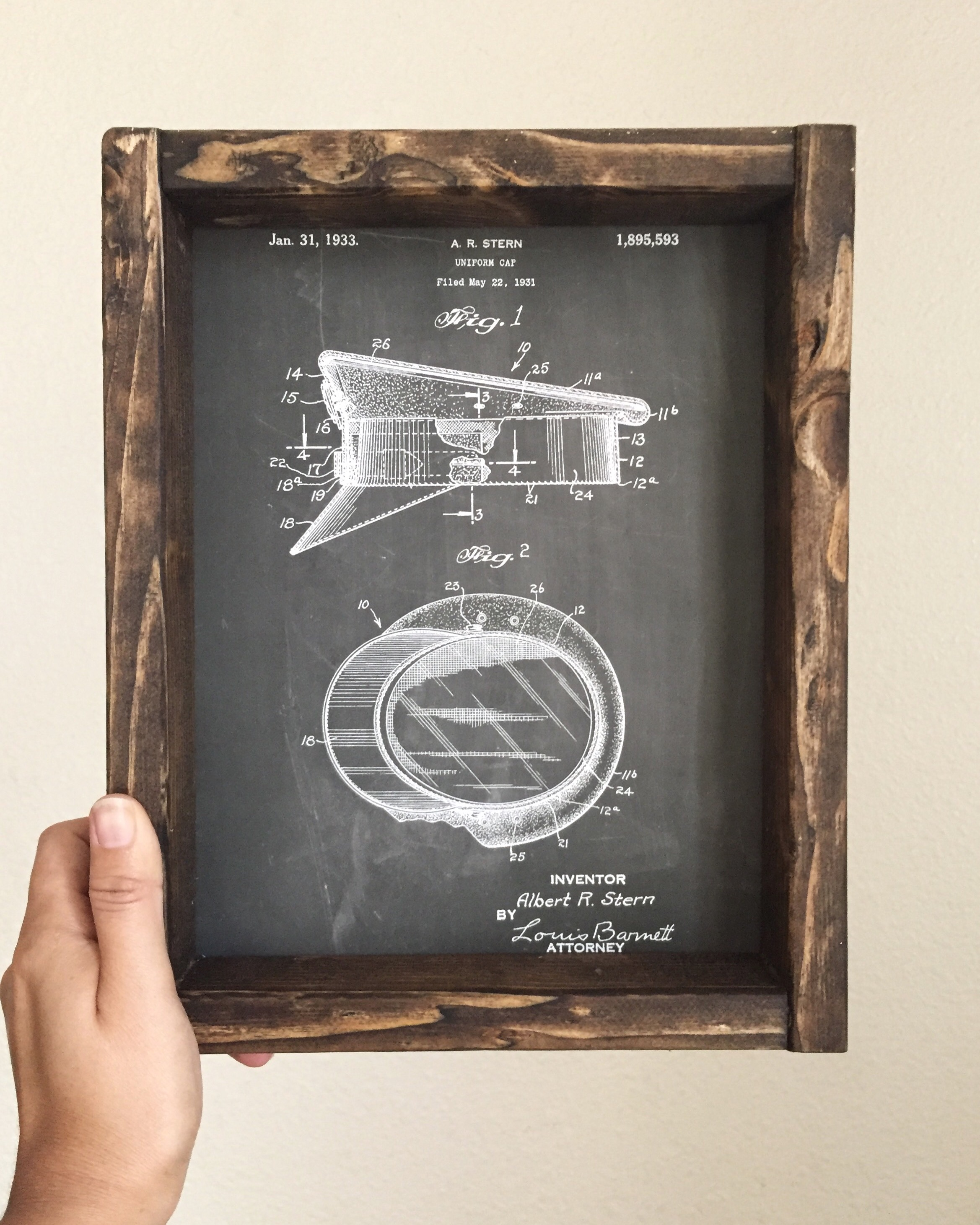 Built This – Rustic Picture Frames and Patent Prints