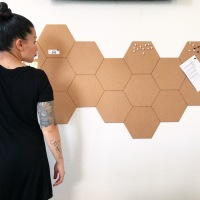 Diy Hexagon Cork Tile Bulletin Board