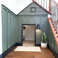DIY under the stairs play nook