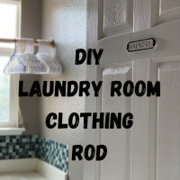 $15 Laundry Room Upgrade and just 15 minutes!